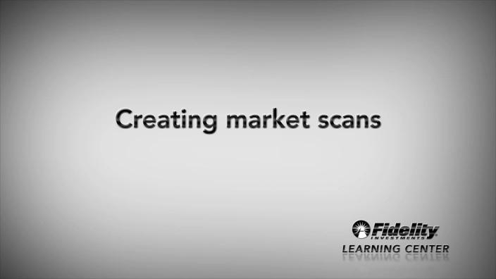 Market Scanner | Fidelity