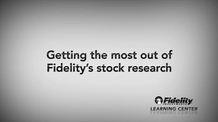 How to Research Stocks - Fidelity Investments